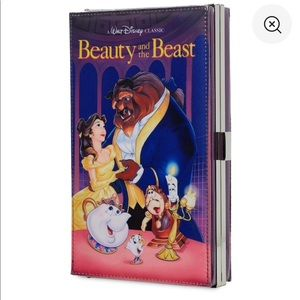 NWT Beauty And the Beast VHS Clutch Purse Disney